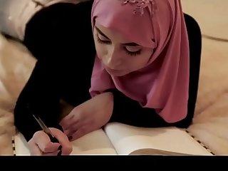 Ella Knox Rides Fat Cock in Hijab