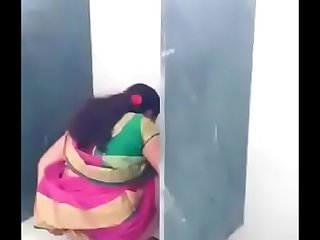 Desi teacher in toilet
