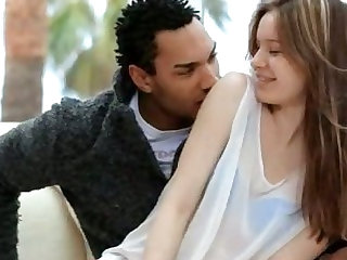 Beautiful euro teen fucking with black