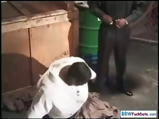 Homeless Black BBW Fucks For Money
