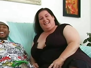 Nice blowjob from fattie