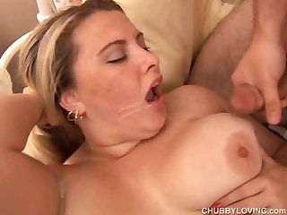 Beautiful big tits blonde BBW boned