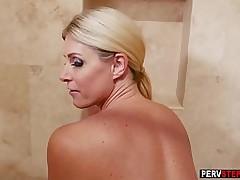 Outlandish stepson got a blowjob alien his dirty wet stepmom