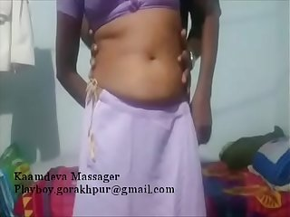 Playing with saree aunty