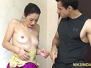 Indian Bhabhi was caught stealing and blackmailed by young guy to get fucked hard anal