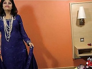 Indian milf stripping