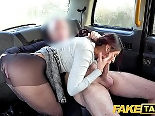 Fake Taxi Indian babe gives great blowjob and rims guy in taxi