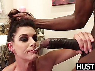 Squirting MILF dicked interracially hard