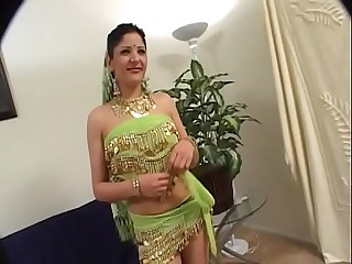 Indian slut with lovely ass pussy sucked and fucked by big dong on couch