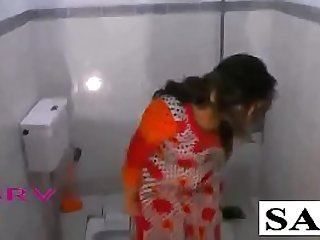 Desi Hot Bhabhi Sonia In Indian Shalwar Suit In Bathroom Naked For Shower & Sex